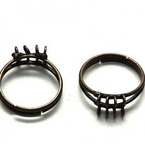 Заготовка для кольца, античная бронза, 18 мм...