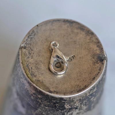 Замочек-лобстер, цвет - платина, 6х10 мм