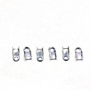 Зажим-концевик для шнура, серебро, 6х3 мм  (в уп ок. 40...