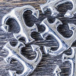 Бусина металлическая фигурная, античное серебро, 14x15....