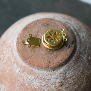 Замок для украшений, золото,  24x17.5x5.5 мм...