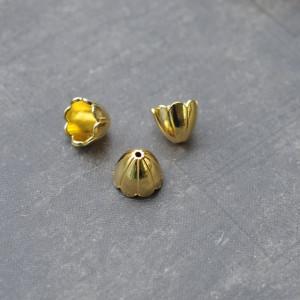 Колпачок для бусин, цв. золото, 17x17х15 мм...