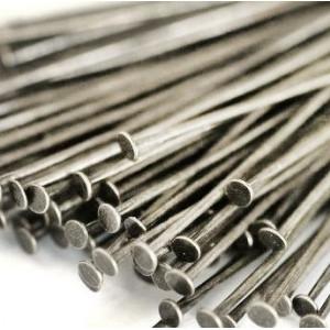 Пины-штифты-гвоздики, серебро, 35х0.7 мм (180 шт)...