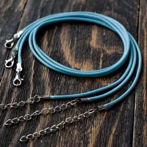 Основа для ожерелья, вощеный шнур, черный, 440х1,5 мм...