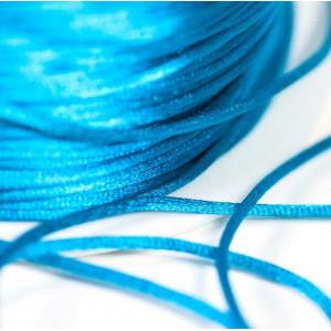 Атласный шнур для кумихимо, темно-бирюзовый, 1 мм (4 м)...