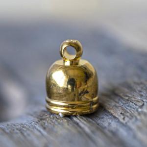 Концевик для шнура, цв, золото, 10х8 мм...