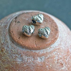 Бусина с большим отверстием, античное серебро, 11x11.5x...
