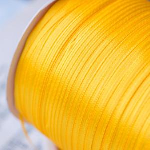 Атласная лента, желтый темный, ширина 3 мм...