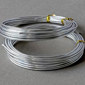 Проволока алюминиевая, цвет серебряный, 2 мм, 5 м...