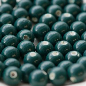 Бусина керамическая круглая, сине-зеленый, 8 мм...