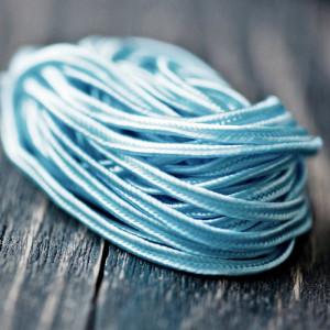 Сутаж, светло-голубой, 3х1 мм (уп 5 м)...