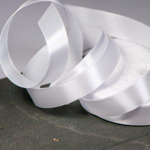 Лента атласная, белый, 15 мм...