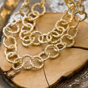 Цепочка для бижутерии, алюминиевая, золотого цвета, раз...
