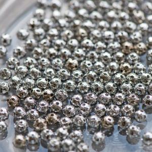 Бусины металлические, платина, 4 мм (уп 3г)...
