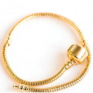Браслет в стиле Пандора на защелке, золото, 190х3 мм...