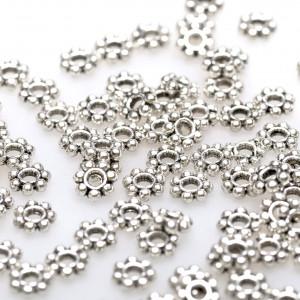 Разделитель-рондель для бусин, платина, 4х1 мм (уп 5 г)...
