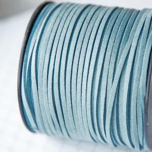 Шнур из искусственной замши, голубой, 3х1,4 мм...