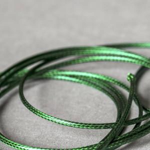 Шнур вощеный синт., темно-зеленый, 2 мм...