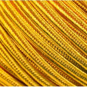 Сутаж, ярко-желтый, 3х1 мм (5 м)...