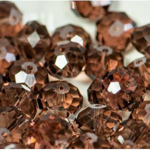 Бусина абакус стеклянная граненая, корицы, 14х10 мм...