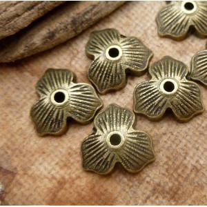 Чашечка (шапочка) для бусин, античная бронза, 11х2,5 мм...