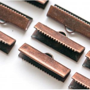 Зажим-концевик для ленты, медь, 20х4 мм...