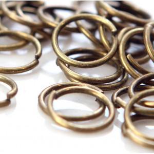 Колечко соединительное 10, цвет античная бронза, 10 мм ...