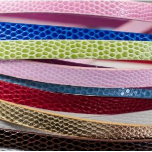 Шнур из искуственной кожи, плоский, разные цвета, 7x1 м...