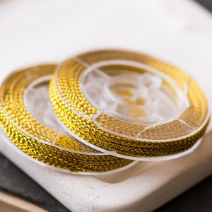 Нейлоновый шнур, цвет золото, 0.6 мм, боб 10 м...