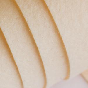 Корейский жесткий фетр цв.804, светло-кремовый, толщина...