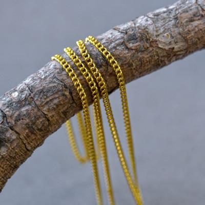 Цепочка для бижутерии, цвет золото, размер звена 3х2х0.6 мм