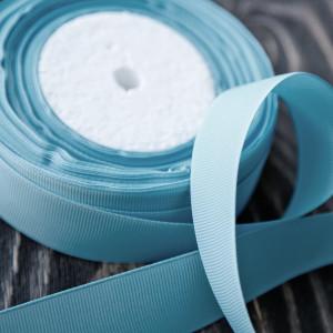 Репсовая лента, голубой, ширина 25 мм...