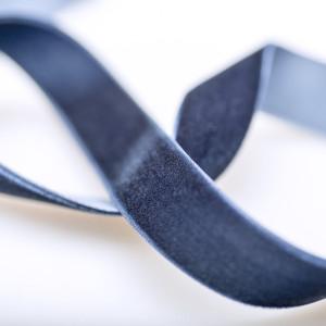 Бархатная лента, сиренево-синего оттенка, ширина 19 мм...