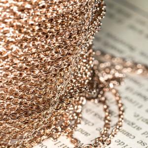 Цепочка для бижутерии, цвет - розовое золото, размер 3x...