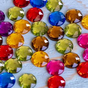Стразы акриловые пришивные, разные цвета,  10х4...