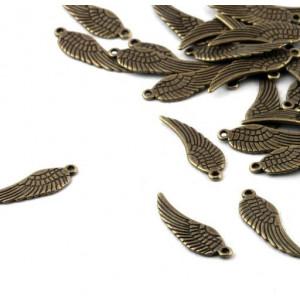 Подвеска металлическая в виде крыла, античная бронза, 3...