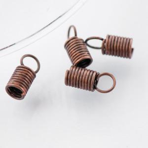 Концевик-зажим пружинный, красная медь, 10х4.5х3.5 мм...
