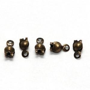 Калотта с отверстием, античная бронза, 8х4 мм (шт.)...