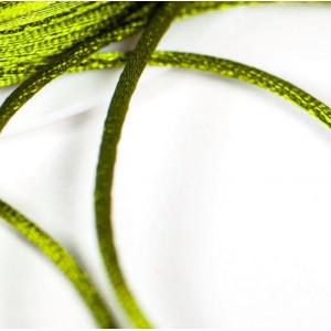 Атласный шнур для кумихимо, оливковый, 1 мм (4 м)...