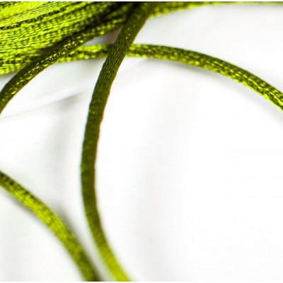 Атласный шнур для кумихимо, оливковый, 1 мм (4 м)