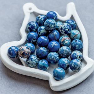 Бусина варисцит 10, цвет синий, колорир., 10 мм...
