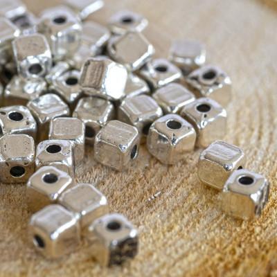 Разделитель для бусин, античное серебро, 4х4х4 мм (20 шт)