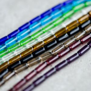 Бусина стеклянная, разные цвета, 10х4 мм...