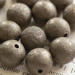 Бусина металлическая с напылением, античная бронза, 12 ...
