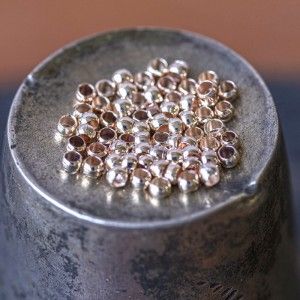 Кримп (стоппер), цв. розовое золото, 2х1.2 мм (уп 4 г -...