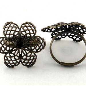 Заготовка для кольца, античная бронза, 17 мм...