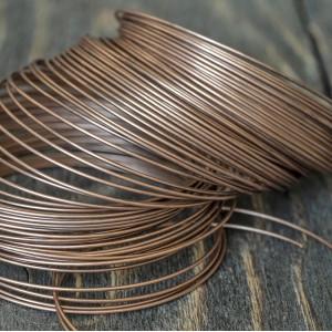 Проволока стальная для браслетов, с памятью, цвет медный, 0.8х55 мм