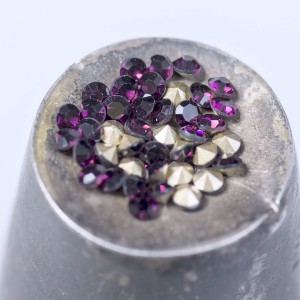 Стразы горный хрусталь, цвет фиолетовый, 2,8 мм (уп 10 ...