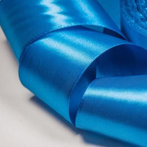 Атласная лента, синий, ширина 50 мм...