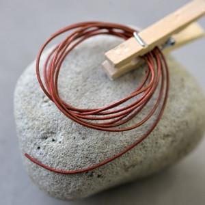 Кожаный шнур, темно-красный, диаметр 1 мм...